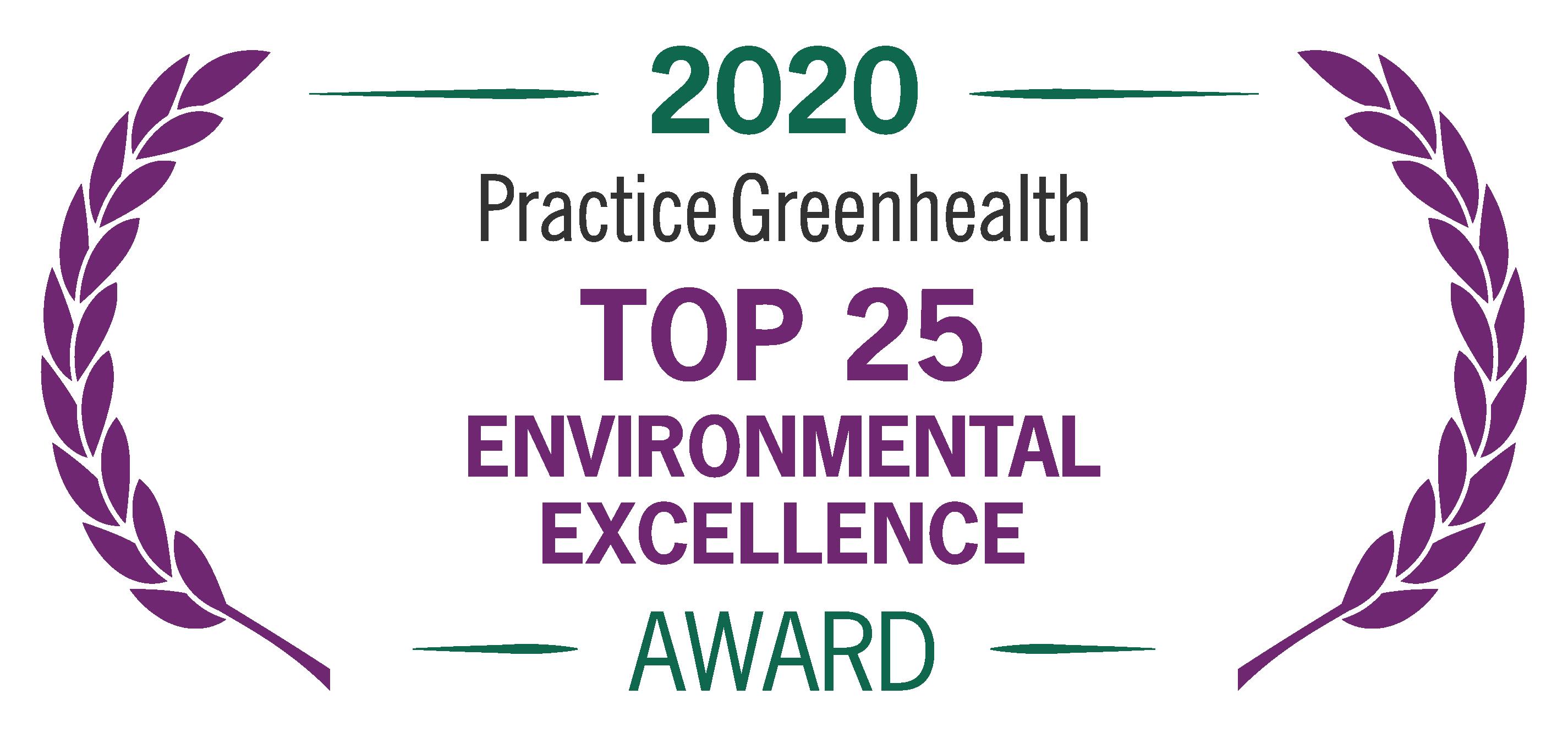 2020 Practice Greenhealth Environmental Excellence Award Logo