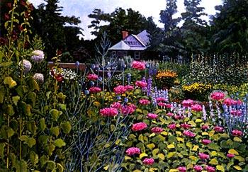 Eleanor B. Daniels painting of garden