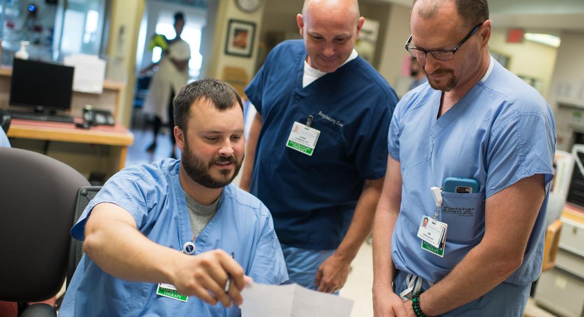 Health care team interacting