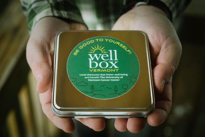 Close up photo of a tin WellBox.