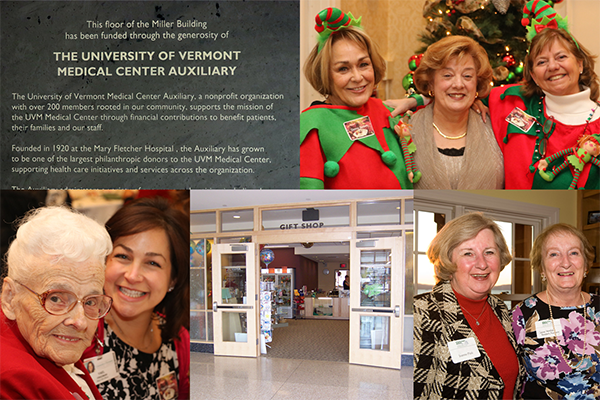 Collage of portraits of UVM Medical Center auxiliary staff