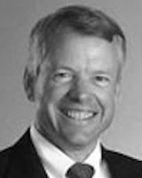 Black and white headshot of trustee Donald Gilbert.