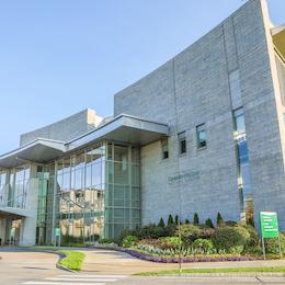 Exterior photo of the UVM Medical Center entrance.