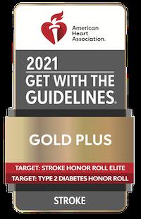 AHA 2021 Gold Plus Award Badge Graphic