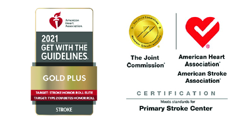 Stroke Care Certification and AHA 2021 Award Graphics
