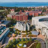 Aerial photo of UVM Medical Center Campus