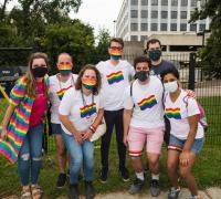 Group of community members at Burlington Pride Parade 2021