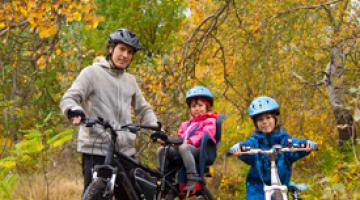 biking with the family